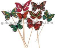 MM6065 plastic butterfly picks for party