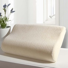 Factory Wholesale High Density Contour Memory Foam Pillow with Velvet Cover