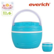 500ml double wall thermo lunch box with foldable spork inside