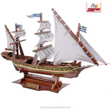 ECO-friendly Non-toxic Ship 3D Puzzle ,Children Toy 3D games paper puzzle