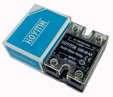 Q00019 Hoymk SSR-40AA 40A 80-280V AC to 24-480V AC SSR 40AA Single Phase Solid State Relay