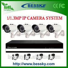 4 CH IP camera NVR Kit,mega pixel ip camera,deep base dome ip camera