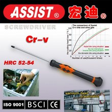 PP and TPR handle flat-blade slotted screwtuner professional tools