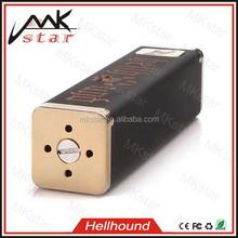 Copper construction and deep graving hellhound regulated mod vaporizer box mods