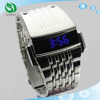 Iron man Conception luxury led watch with stainless steel fashion men watches men Wristwatches