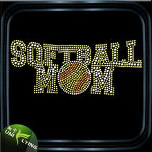 Enjoy sport softball rhinestone iron on transfer