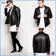 2015 Faux Leather Biker Jacket Motorcycle Man Jacket