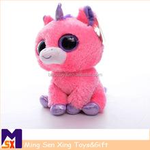 new design high quality plush mini real doll,big eyes plush unicorn toy,plush unicorn