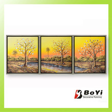 Reproduction Canvas Abstract Tree Birch Forest Oil Painting