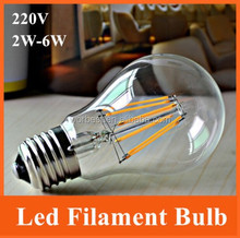 china supplier Filament LED Lamp glass material 4W 6W 8w used in crystal chandelier ball Light Bulb