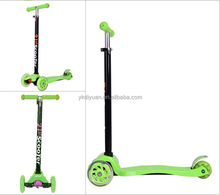 Fasy plastic board maxi kick scooter, kick scooter with 3 wheel, mini kick scooter for kids