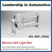 Salt resistant marine 9v-32v auto led work light bar for fishing boat 6inch