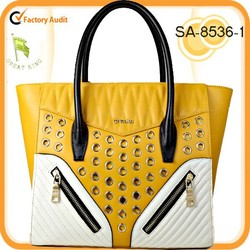 Hot ! 2015 New high-capacity 100% genuine leather tote bag made in china