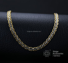 Best sell cheap two tone chain necklace flat chain for women pop