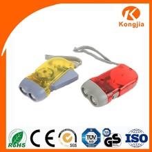 Emergecy Useage Led Torch Light Mini 2 Led Torch Generator Flashlight Dynamo Hand Crank Flashlight
