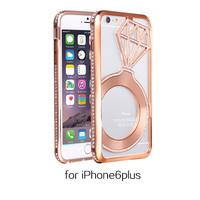Mobile Phone Case for iphone 6 Plus Rhinestone Cover/for iphone 6 Plus Diamond Phone Cover