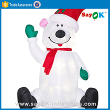 10 feet tall polar bear, 5m tall inflatable snowman for christmas decoration