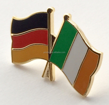 germania e irlanda amicizia bandiere in smalto placcato oro distintivo pin