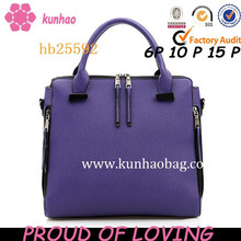 New Arrival Fashion Brand Pu Leather Top Handle Bags