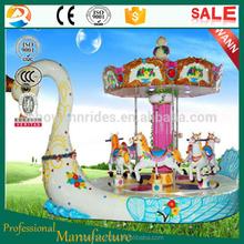 double layer luxury swan model indoor carousel
