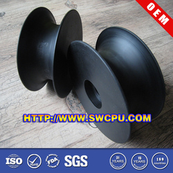 CNC machining black plastic rope u groove wheel