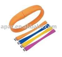 Hot sell silicone bracelet usb flash memory drive 8gb promotion gifts witth company ad wristband usb flash memory drive