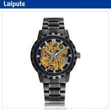 2015 relojes winner skeleton watch mechanic with stainless steel band two size available