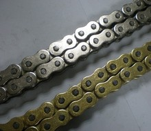 Motorcycle parts motorcycle chain engine chain with transmission kit 420/428/530 in natural color/ black/gold color