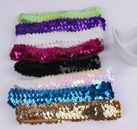 Fashion Women's Hot New sequins Elastic Hair Band Headband colorful Hair Accessories