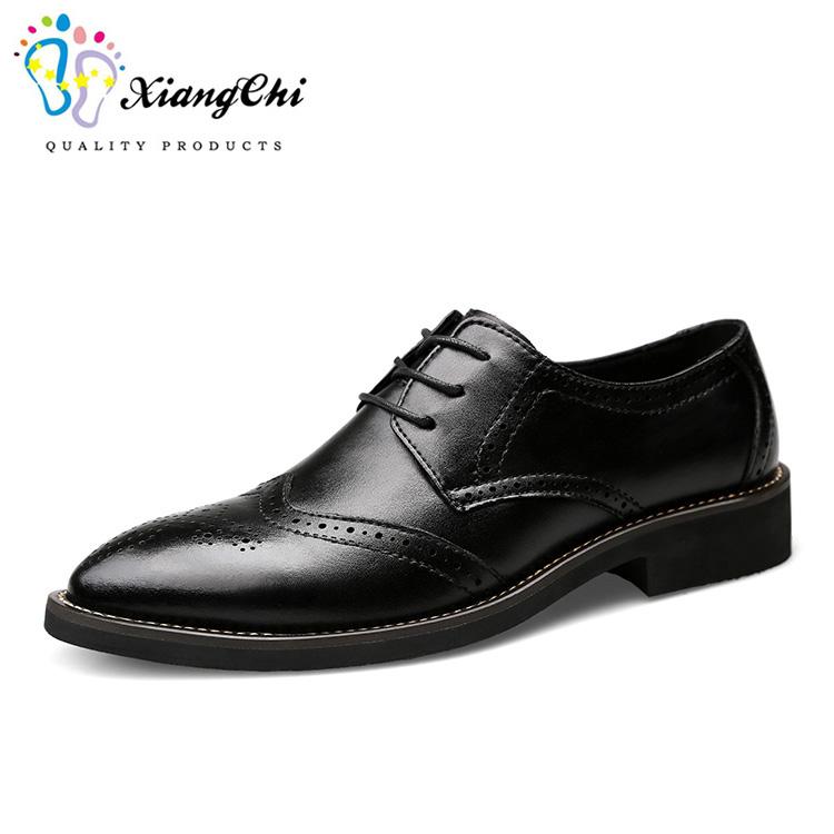 erkekler dantel ve işareti konu spot stok deri ayakkabı