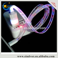 light up neon usb data cable with led light cable for Samsung S4