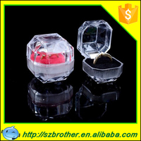 Golden supplier sale cheap and top quality ring box, acrylic clear ring box, jewelry ring box