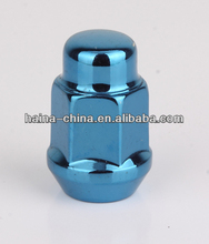 Colored wheel lug nuts
