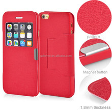 Windown View Leather Case Cover For Iphone 6