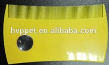 Plastic pet flea comb, for removing tick
