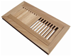 Solid wooden unfinished surface hickory flooring vent