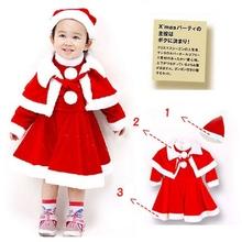 2015 factory direct supply new design santa girl dress mascot costume