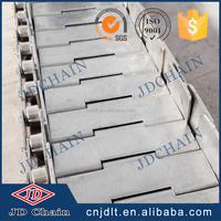 Stainless steel flat top conveyor chain reduce servo drive needs