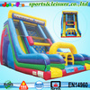 Hotsale vertical rush inflatable slide with obstacle,inflatable vertical rush obstacle slide