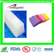 silicone rubber for silicone fashionable phone case with different colors.