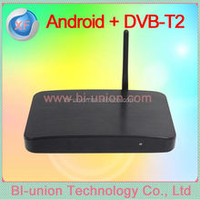 dual core dvb-t2 android tv box for european