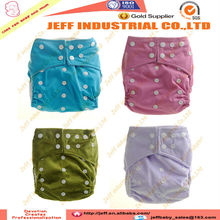 Wholesale All in One Size Reusable Pocket Diaper Washable Antibacterial Bamboo Cloth Diaper Solid Color Nappies with Inserts