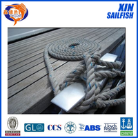 most popular shipping ropes pp multi-filament material Yacht ropes