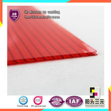 100% virgin materials twinwall hollow polycarbonate sheet new building materials