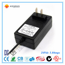 CB UL FCC GS PSE certificated adapter for POS CCTV LED driver 24v 1a power supplies