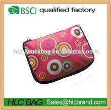 190T Polyester folding reusable shopping bag with zipper