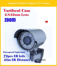 Sony CCD 420TVL IR Waterproof Analog To Ip Camera Converter with 2.8mm-12mm varifocal 1080P Lens