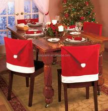 Christmas Santa Claus Hat Chair Covers Set