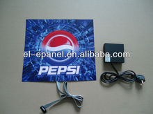 Hot Sale and Full lighting PEPSI EL Advertisement,high brightness 150cd/cm2 with low price