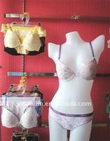 Wider Waist Elastic Girls Cotton Bra Set Printed Lingerie Wear